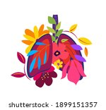 beautiful flowered healthy...   Shutterstock .eps vector #1899151357