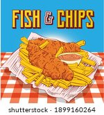 fish and chips poster banner...   Shutterstock .eps vector #1899160264