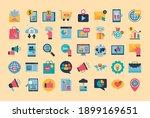 digital marketing flat style... | Shutterstock .eps vector #1899169651