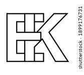 logo sign ek ke icon sign... | Shutterstock .eps vector #1899176731