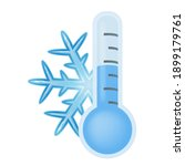 thermometer weather cold... | Shutterstock .eps vector #1899179761