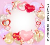 valentines day background with...   Shutterstock .eps vector #1899189421