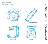 set of icons for the metrics to ... | Shutterstock .eps vector #1899189574