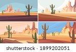 collection of arizona deserts....   Shutterstock .eps vector #1899202051