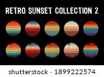 vintage sunset collection in... | Shutterstock .eps vector #1899222574