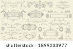 decorative vintage set of thin... | Shutterstock .eps vector #1899233977