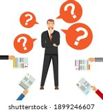 staff selection. a man in a...   Shutterstock .eps vector #1899246607