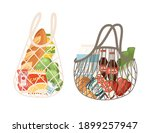 eco bag set with different type ... | Shutterstock .eps vector #1899257947