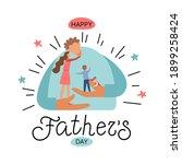 vector illustration  father...   Shutterstock .eps vector #1899258424