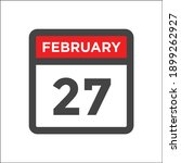 red and black calendar icon w... | Shutterstock .eps vector #1899262927