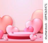 happy valentine's day podium... | Shutterstock .eps vector #1899265471