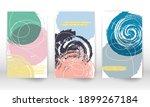 modern art painting. set of... | Shutterstock .eps vector #1899267184