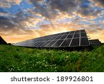 solar energy panels in the... | Shutterstock . vector #189926801