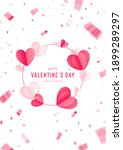 happy st. valentine s day card... | Shutterstock .eps vector #1899289297