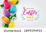 easter sale poster template... | Shutterstock .eps vector #1899294931
