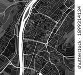 Dark Vector Art Map Of Trier ...