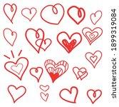 hand drawn vector valentine...   Shutterstock .eps vector #1899319084