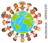 nationalities. different... | Shutterstock .eps vector #189932195