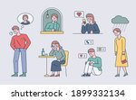 those who miss their separated... | Shutterstock .eps vector #1899332134