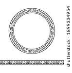 greek circle frame. meander... | Shutterstock .eps vector #1899334954