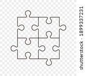 puzzle pieces vector set.... | Shutterstock .eps vector #1899337231