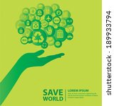 go green concept. save world... | Shutterstock .eps vector #189933794