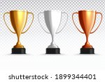 Gold  Silver And Bronze Trophy...