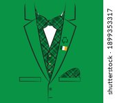 jacket with a checkered vest... | Shutterstock .eps vector #1899353317