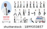 doctor man poses vector... | Shutterstock .eps vector #1899353857