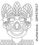 mardi gras jester coloring page ... | Shutterstock .eps vector #1899378517
