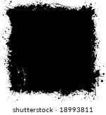 grunge background with splash... | Shutterstock . vector #18993811