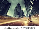 traffic in hong kong at sunset... | Shutterstock . vector #189938879