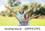 portrait of happy family of... | Shutterstock . vector #189941591