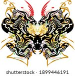 unusual colored butterfly wings ... | Shutterstock .eps vector #1899446191