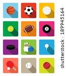 sport balls flat icons | Shutterstock .eps vector #189945164