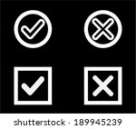 yes or no icons  validation... | Shutterstock .eps vector #189945239