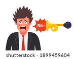 the man was frightened by the... | Shutterstock .eps vector #1899459604