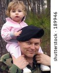 American Army Soldier With Baby ...