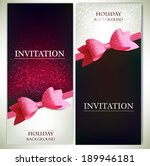 greeting cards with red bows... | Shutterstock .eps vector #189946181