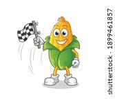 Corn Finish Flag Holder Cartoon....