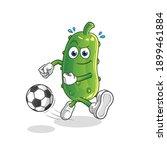 cucumber kicking the ball...   Shutterstock .eps vector #1899461884