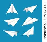 Set Of Simple Papper Plane...