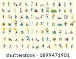 set of people  men and women... | Shutterstock .eps vector #1899471901