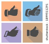 thumbs up on a light colored...   Shutterstock .eps vector #1899511291
