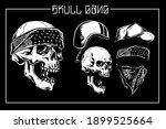vector set of skull and... | Shutterstock .eps vector #1899525664
