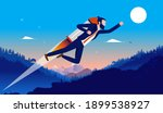career boost   businessman with ... | Shutterstock .eps vector #1899538927