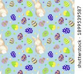 watercolor easter pattern with...   Shutterstock . vector #1899539587