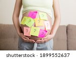 Pregnant Woman Belly With...