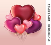 valentines day 3d hearts. cute...   Shutterstock .eps vector #1899555481
