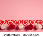 Red And White Roses And Hearts...